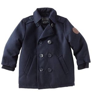 EUC Woolrich Kids Navy PaddedPea Coat